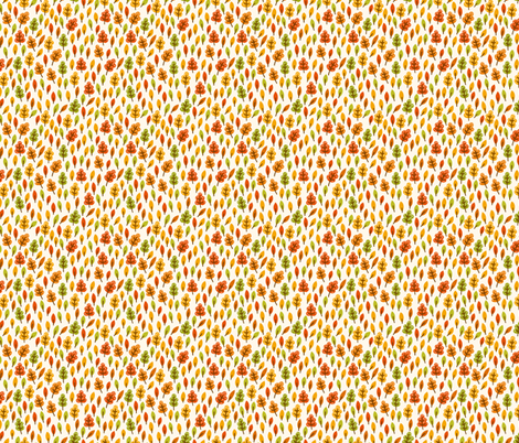 Autumn Leaves fabric by valendji on Spoonflower - custom fabric