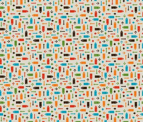 Retro Arrows fabric by valendji on Spoonflower - custom fabric