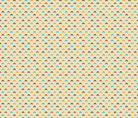 Colored mustache fabric by valendji on Spoonflower - custom fabric