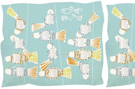 Hanging Around 2 Calendar 2014 fabric by sary on Spoonflower - custom fabric