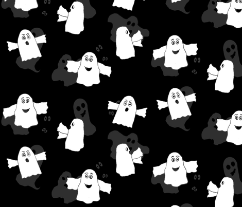 Boos First Halloween! - by RockaPoodle fabric by rockapoodle on Spoonflower - custom fabric