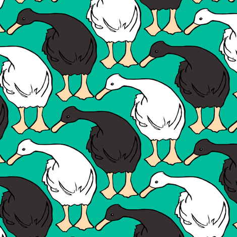 Diagonal Duckies Two fabric by pond_ripple on Spoonflower - custom fabric
