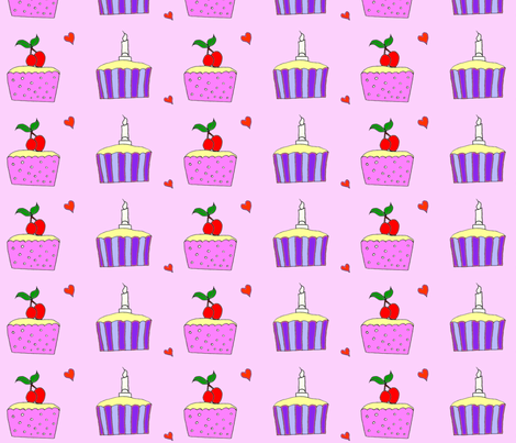 Cherry Pies (multi) fabric by rockapoodle on Spoonflower - custom fabric