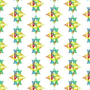 Order of the Eastern Star Script Initials in Color