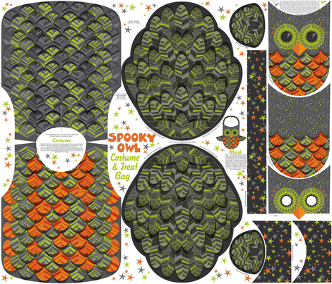 Spooky owl costume fabric by cjldesigns on Spoonflower - custom fabric