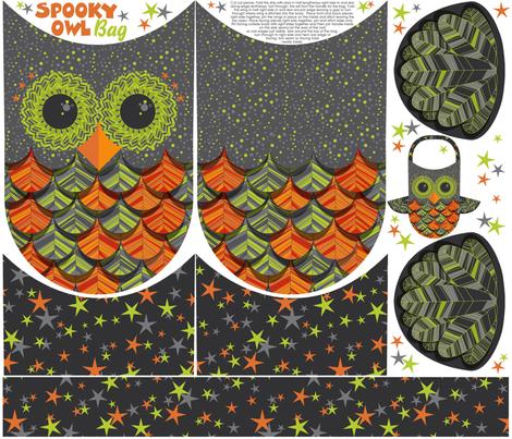 owl treat bag fabric by cjldesigns on Spoonflower - custom fabric