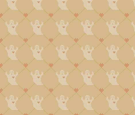Ghosts also Love fabric by anagrama on Spoonflower - custom fabric