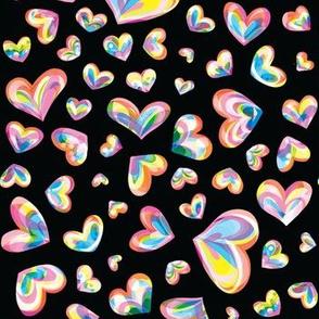 Spectrum Hearts - Black Condensed