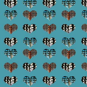 I Heart Birds (Blue Background)
