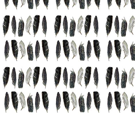 Spirit Feathers fabric by jodyvanb on Spoonflower - custom fabric