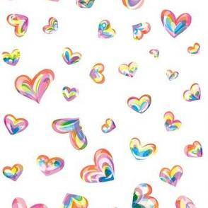 Spectrum Hearts - White