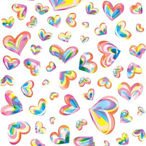 Spectrum Hearts - White Condensed