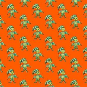WOODLAND CREATURES on Orange
