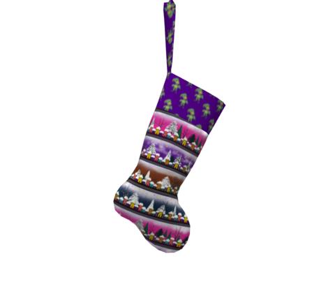 WOODLAND CREATURES LEAFY ELF on violet purple