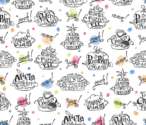 Pie-o-licious - © Lucinda Wei fabric by lucindawei on Spoonflower - custom fabric