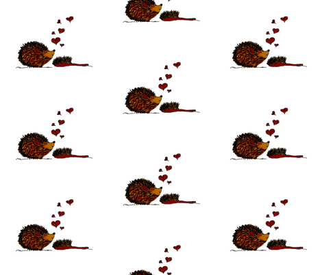 Hedgehogs In Love fabric by therustichome on Spoonflower - custom fabric