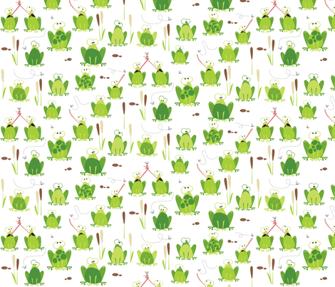 Army of Frogs fabric by mulberry_tree on Spoonflower - custom fabric