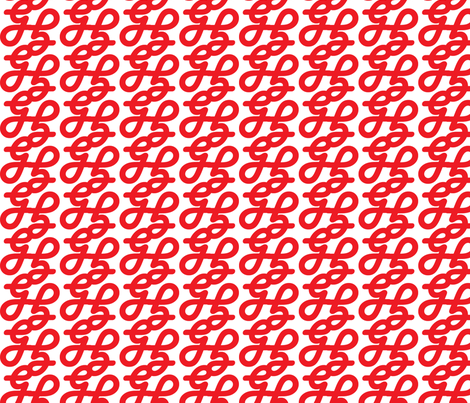 GG Red fabric by upstyle_design on Spoonflower - custom fabric