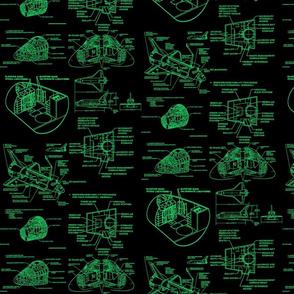 space shuttle green