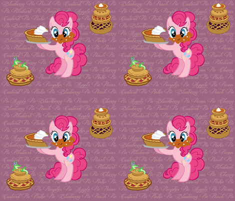 Pinkie_Pie's_Tasty_Pies fabric by the_halfling_haberdashery on Spoonflower - custom fabric