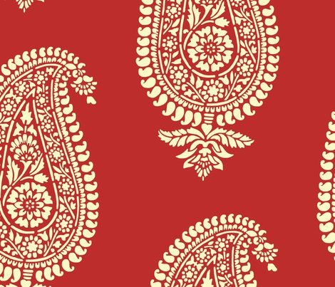 India_red_paisley_block_print_gift_wrap_shop_preview