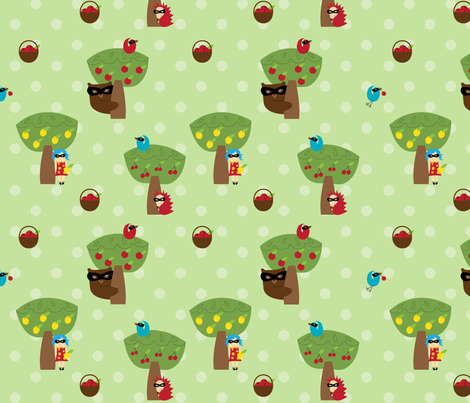 Pie Bandits - who ate all the pies? fabric by knuckle_sandwich on Spoonflower - custom fabric