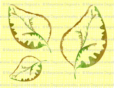 fabric_yellow_linen_with_leaves