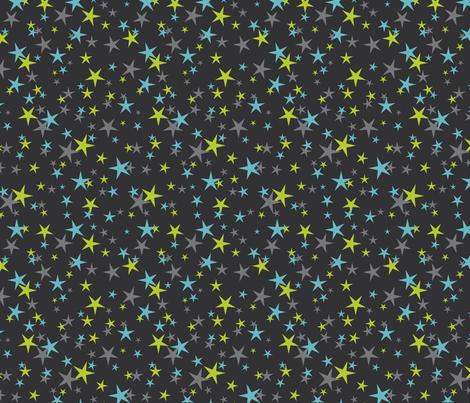 halloween stars blue green fabric by cjldesigns on Spoonflower - custom fabric