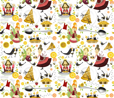A dainty dish to set before the King fabric by mulberry_tree on Spoonflower - custom fabric