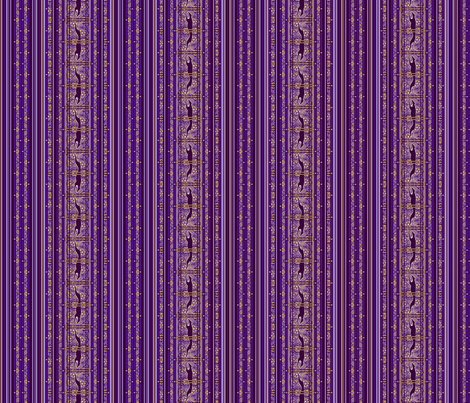 Running Greyhound Stripe, Purple and Yellow fabric by artbyjanewalker on Spoonflower - custom fabric