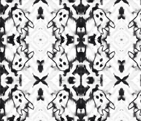 Ghosts in the night  fabric by stylisedpatterns on Spoonflower - custom fabric