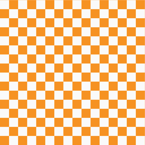 Checkerboard Orange fabric by tinag on Spoonflower - custom fabric