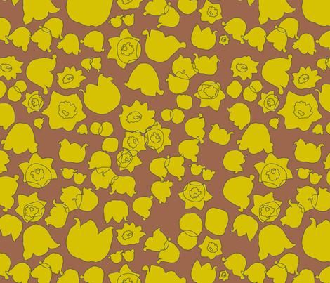 lotv sprawl green fabric by makemightswave on Spoonflower - custom fabric