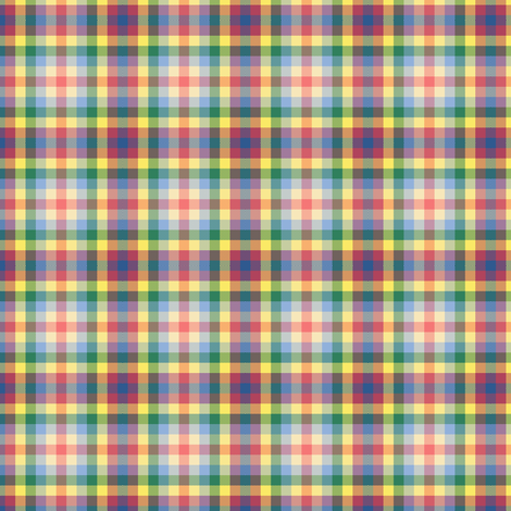 Raggedy Andy Plaid fabric by spontaneouscombustion on Spoonflower - custom fabric