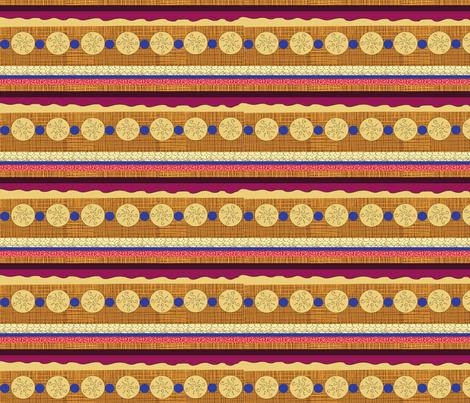Pie Stripes on Caramel Crosshatch fabric by vanillabeandesigns on Spoonflower - custom fabric