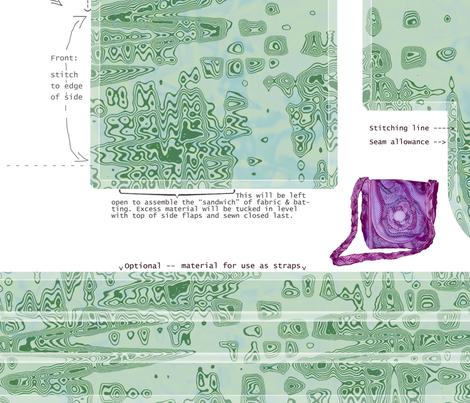 DIY Handbag marbled green fabric by cricketnoel on Spoonflower - custom fabric