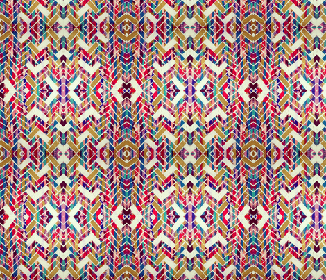 The Painted Herringbone fabric by theartwerks on Spoonflower - custom fabric