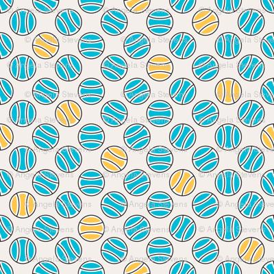Little Tennis Balls in Blue