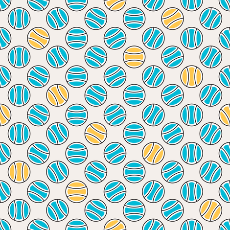 Little Tennis Balls in Blue fabric by mag-o on Spoonflower - custom fabric