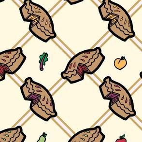 Apple, Rhubarb, Peach or Pear