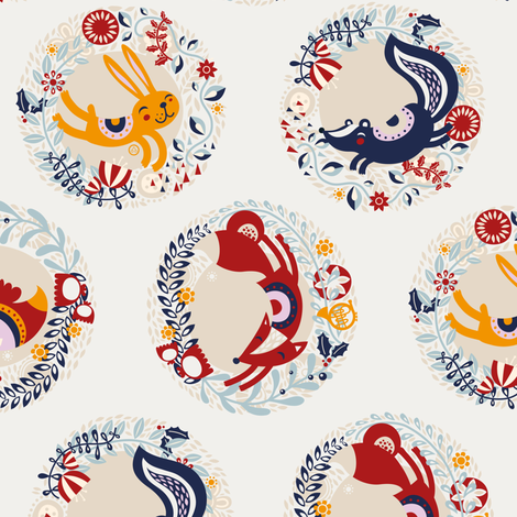 All year round fabric by verycherry on Spoonflower - custom fabric