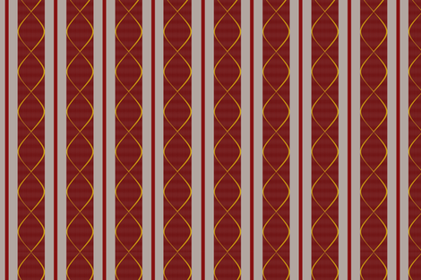 Ticking  with a twist - Burgandy on Stone fabric by madex on Spoonflower - custom fabric