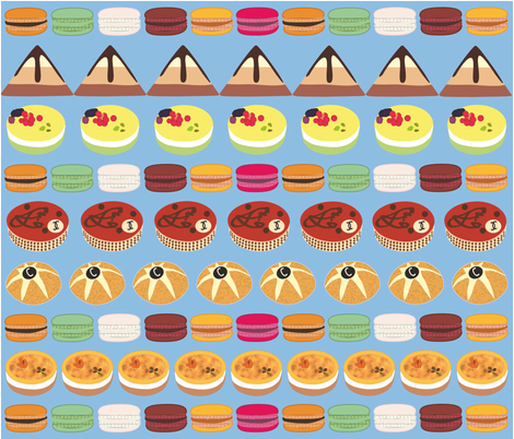 pies and cakes fabric by cush_barcelona on Spoonflower - custom fabric