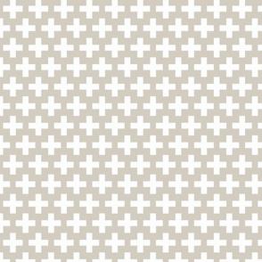 White cross on natural trellis