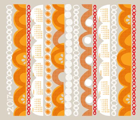2017 citrus slice tea towel calendar-21 inch fabric by ottomanbrim on Spoonflower - custom fabric