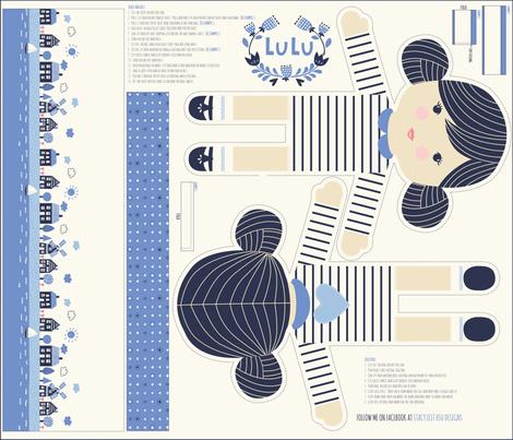 Lulu_mini fabric by stacyiesthsu on Spoonflower - custom fabric