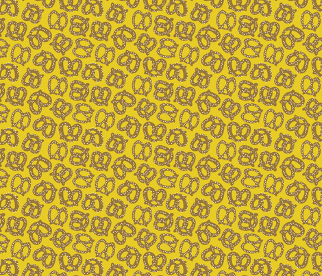Pretzels - Mustard fabric by nadiahassan on Spoonflower - custom fabric