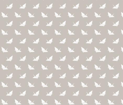 Folded Flock: Warm Gray fabric by nadiahassan on Spoonflower - custom fabric