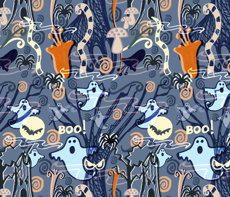 If you go down to the woods tonight... fabric by slumbermonkey on Spoonflower - custom fabric