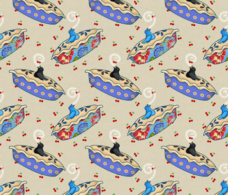 Pie Bird Song fabric by shellypenko on Spoonflower - custom fabric